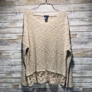 Wet Seal Knit Lace Sweater M